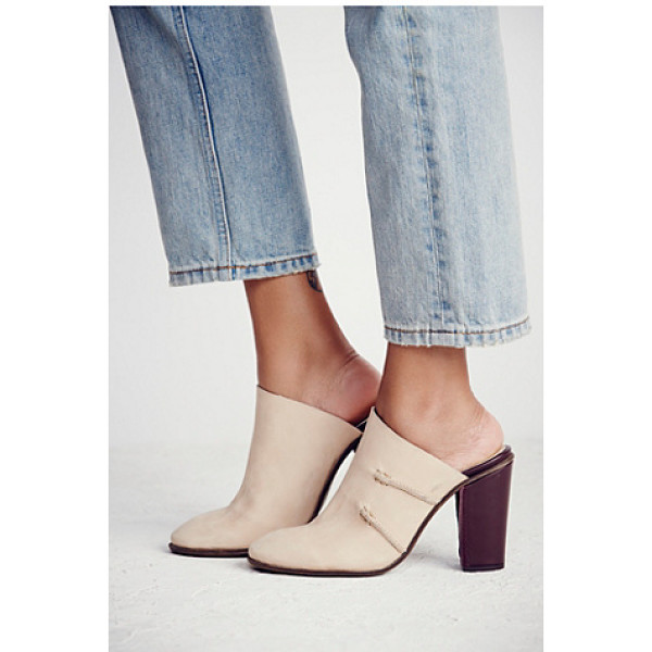 FREE PEOPLE Stateside mule - Washed leather mules with contrast leather heels.