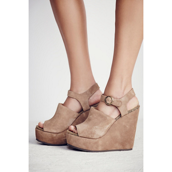 FREE PEOPLE Sugarhigh platform wedge - Classic open toe wedges featuring an adjustable ankle...