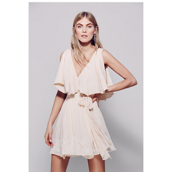 FREE PEOPLE Sylvia mini dress - This wrap mini dress features allover bead and embroidery...