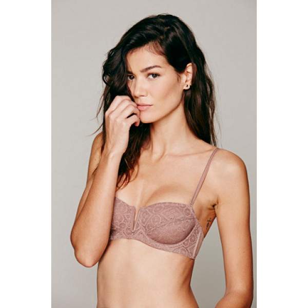 "INTIMATELY Crochet lace v/wire bra - ""Sheer crochet lace balconette bra with underwiring..."