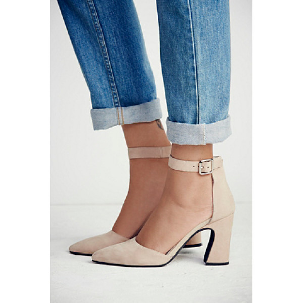 JEFFREY CAMPBELL + FREE PEOPLE Sterling heel - Pointed-toe suede shoes with a sculptural heel and...