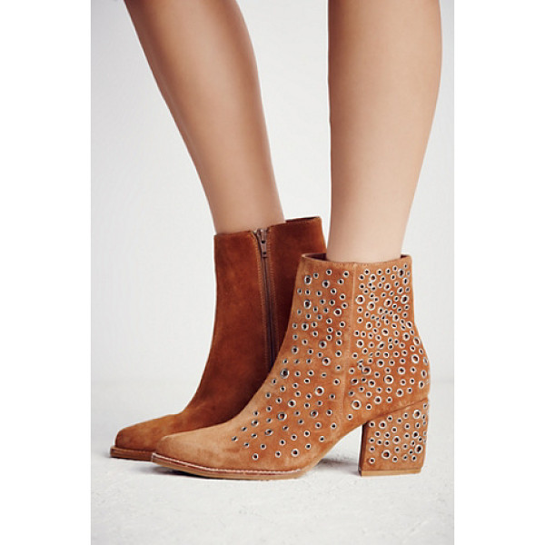 JEFFREY CAMPBELL None - In a western inspired silhouette these heeled suede ankle...