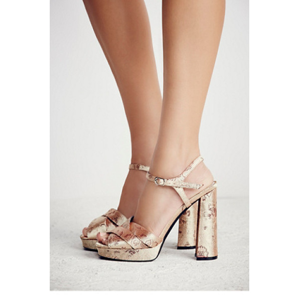 JEFFREY CAMPBELL None - Vintage-inspired platform heel featuring a crossover upper...