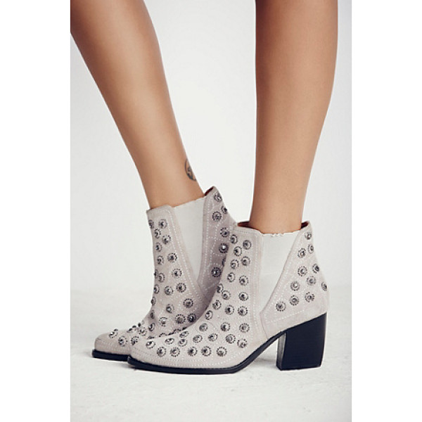 JEFFREY CAMPBELL + FREE PEOPLE After dark boot - These pull-on ankle boots are diamond dazzlers. Bejeweled...