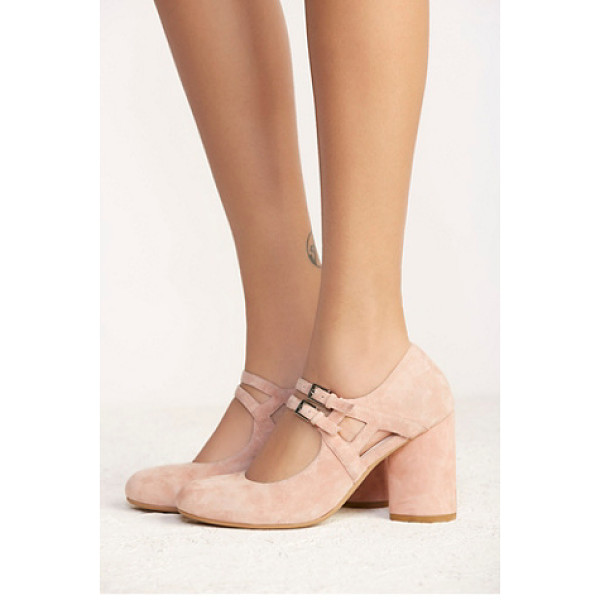 JEFFREY CAMPBELL + FREE PEOPLE None - Suede Mary Jane heels featuring double delicate straps a...