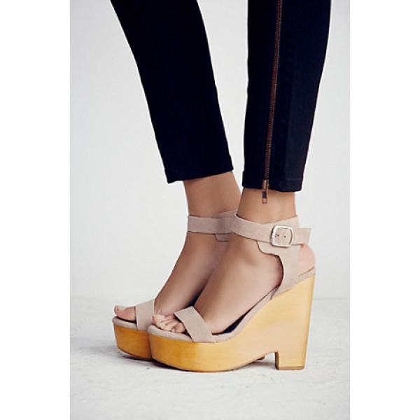 JEFFREY CAMPBELL Full swing platform - Strappy suede platform sandals with an extreme wedge and...