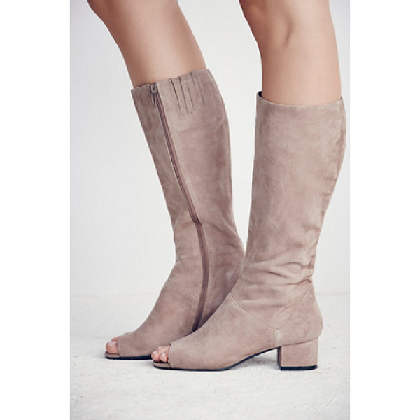 JEFFREY CAMPBELL Studio mod heeled knee boot - Knee-high suede boots featuring a mod design with open toe...