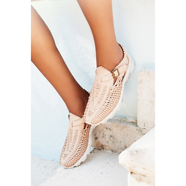JEFFREY CAMPBELL West village sneaker - Woven leather slip on sneakers with an adjustable buckle...