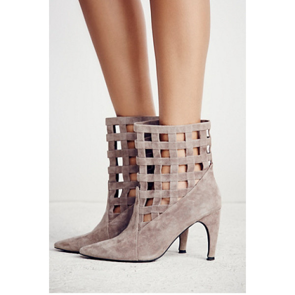 JEFFREY CAMPBELL + FREE PEOPLE After the storm heel boot - Bring these luxe suede heeled booties from day to night....
