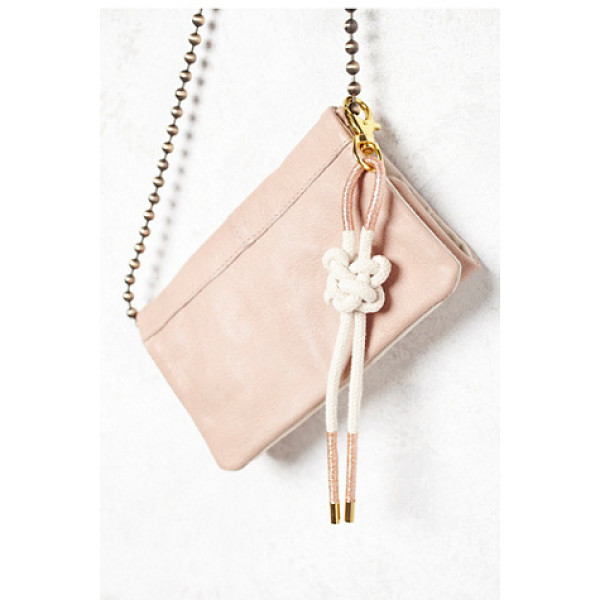 KAREN KIMMEL Rope bag bolo keychain - Natural cotton rope in a sailor s knot design wrapped in...