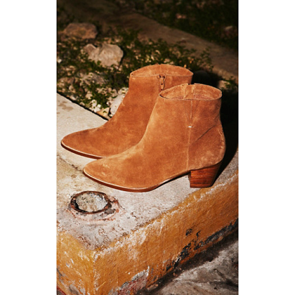 MATISSE Vegan jessa ankle boot - Luxe suede ankle boots featuring a pointed toe and stacked...