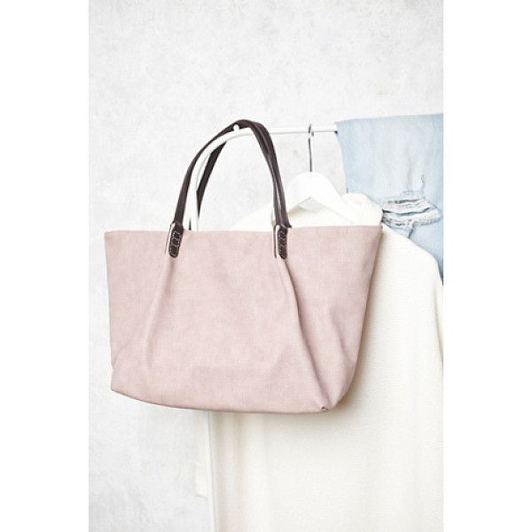 REMI & REID Washed vegan tote - Generously sized vegan leather tote with a snap closure and...