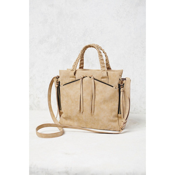 VIOLET RAY X FREE PEOPLE Holloway vegan tote - Vegan leather tote bag featuring exposed zipper detailing....