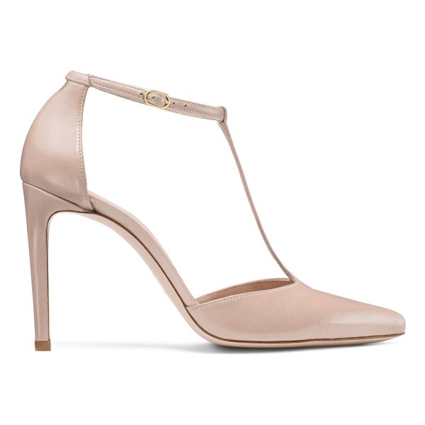 STUART WEITZMAN Amity - Classic T-strap pumps get a bombshell boost thanks to a...