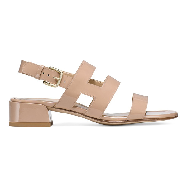 STUART WEITZMAN Barrio - Cage-inspired straps embrace and flatter the foot, infusing...