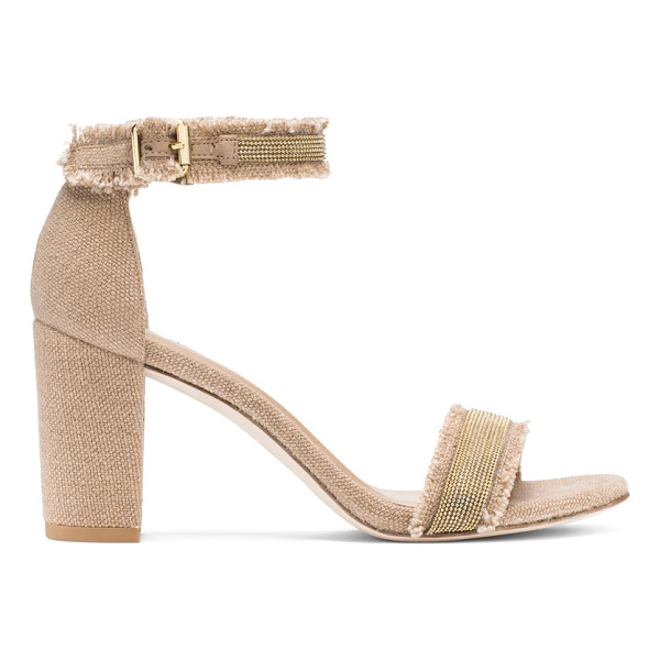 STUART WEITZMAN Chaingang - These single-sole sandals are revamped with a block heel