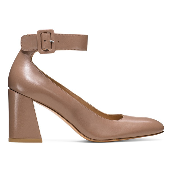 STUART WEITZMAN Clara - Practice proportion control with these Sixties-inspired...