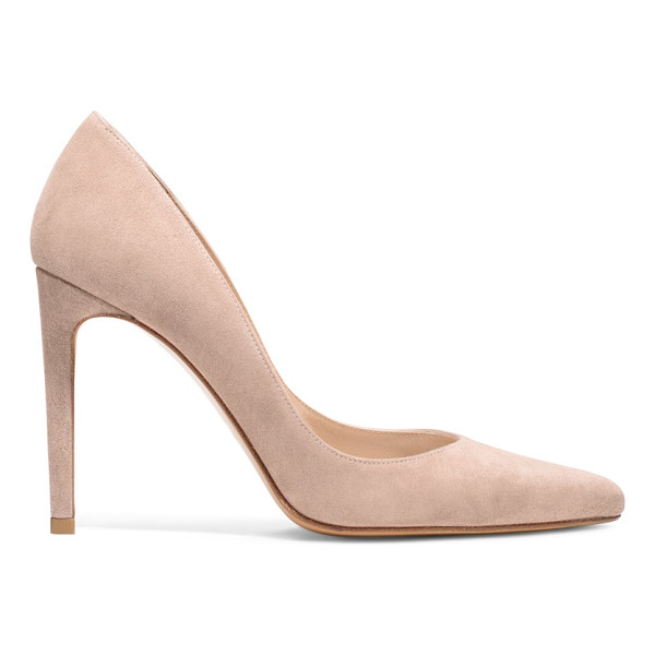 STUART WEITZMAN Curvia - Curves Ahead: These pointed-toe pumps are sharp, sleek and