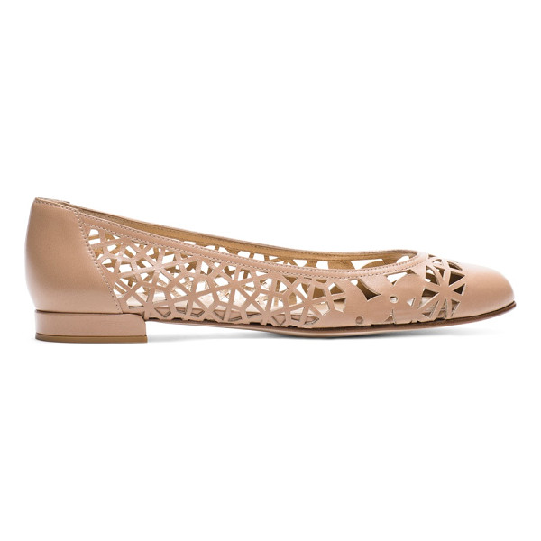 STUART WEITZMAN Cutdown - This new-season spin on ballet flats makes the cut with its...