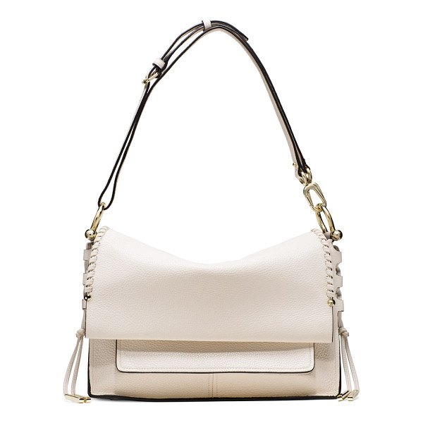 STUART WEITZMAN Lola - Crafted from ultra-luxe leather, this chic flap bag...