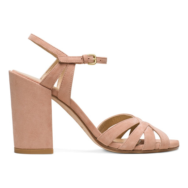 STUART WEITZMAN Memoir - These single-sole sandals are set on covered block heels,...