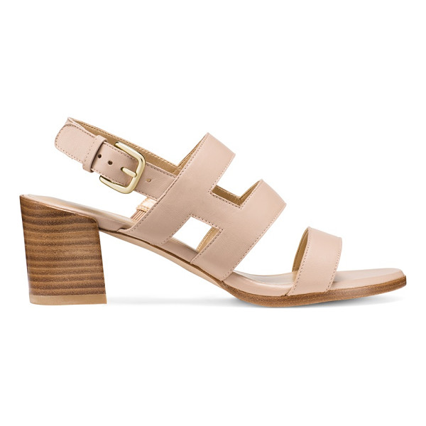 STUART WEITZMAN Milanese - Wide cage-inspired leather straps infuse effortless polish...