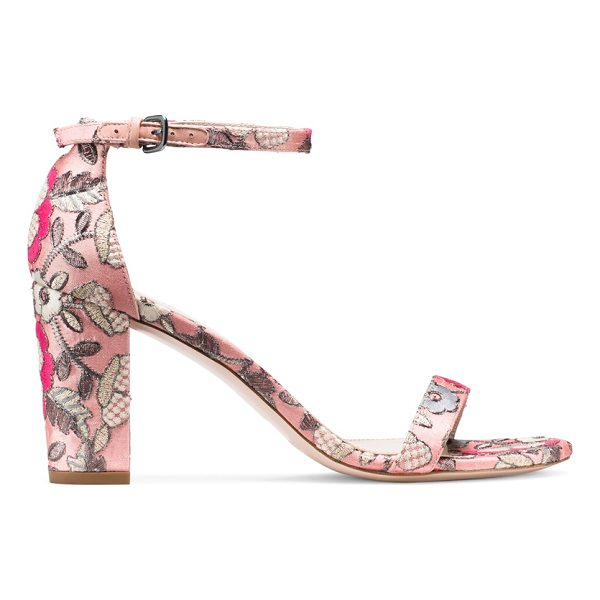 STUART WEITZMAN Nearlynude - Classic minimalist sandals are reinvented by way of a bold...