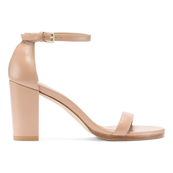 STUART WEITZMAN Nearlynude - Classic minimalist sandals are reinvented by way of a bold