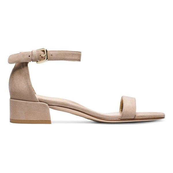 STUART WEITZMAN Nudistjune - Crafted from sumptuous suede and finished with a subtle...