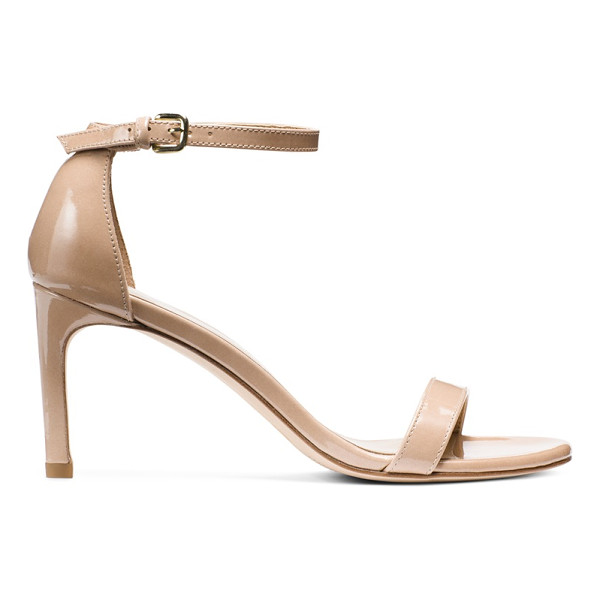 STUART WEITZMAN Nunakedstraight - The NUNAKEDSTRAIGHT single-sole sandals feature a wider-cut