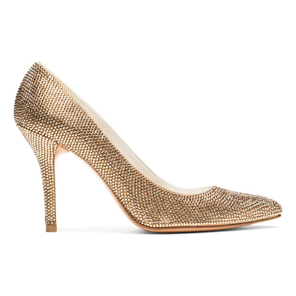 STUART WEITZMAN Pave - These showstopping, pointed-toe pumps, gleaming with...