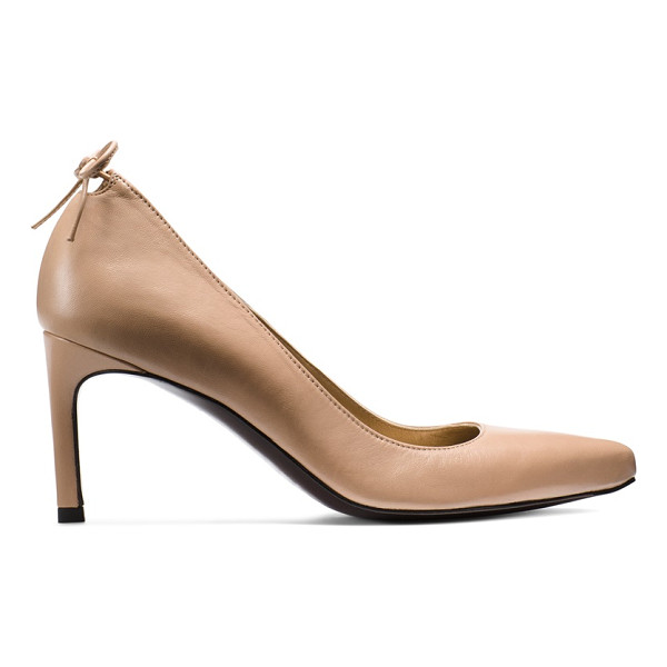 STUART WEITZMAN Peekamid - These pointed-toe pumps feature a slim mid-heel and subtle...