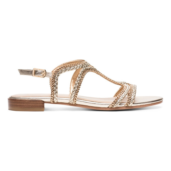 STUART WEITZMAN Samoa - This easy-to-wear sandal is crafted from luxe nappa...