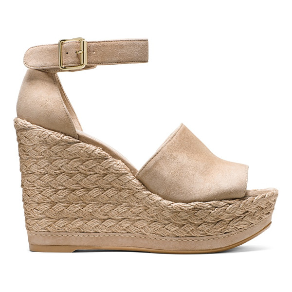 STUART WEITZMAN Sohojute - Rise to every occasion in this vacation-ready wedge, which...