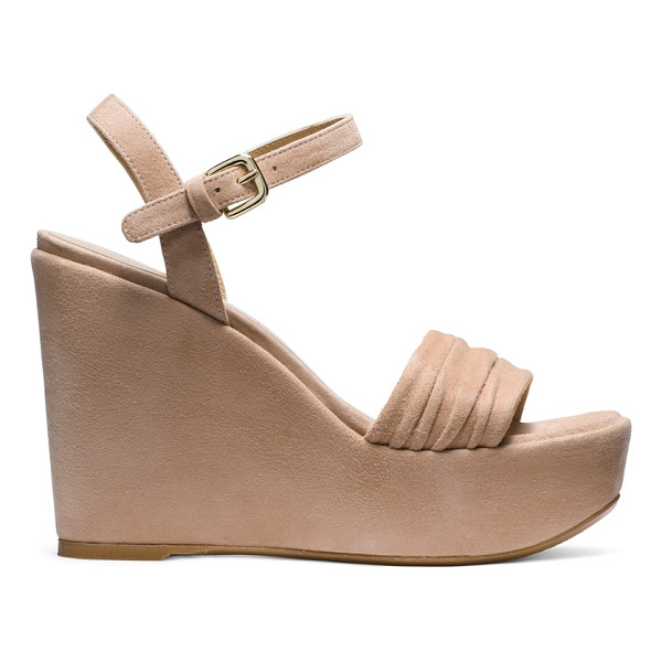 STUART WEITZMAN Sundraped - Warm-weather wedges are made luxe via sumptuous suede,...