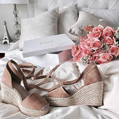 NUDE WEDGES. get summer started