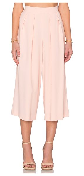 1. STATE Crepe Culottes in peach - Poly blend. Dry clean only. Pleated waist. Side seam...