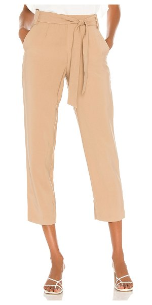 1. STATE tie waisted tapered pant in classic camel