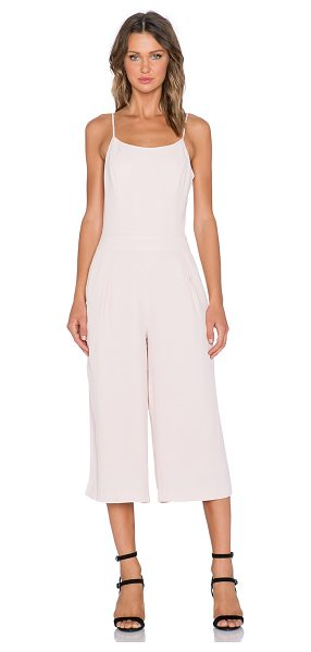 1. STATE Wide leg jumpsuit in blush - Shell: 100% rayonLining: 100% poly. Dry clean only....
