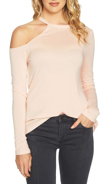 1.State cold shoulder top in blush frost - An exceptionally fine knit drapes the figure as it shows...