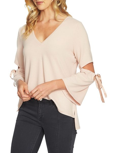 1.State cozy slit sleeve top in 897-blush frost - This statement top is ready for nights out on the town...