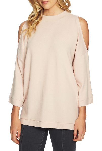 1.State the cozy cold shoulder top in blush frost - Flash a little skin in this top cut from softly brushed...