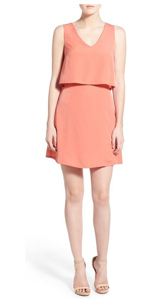 1.State crepe popover dress in coral crush - Embrace sweet sunshine and warmer temps in a lightweight...