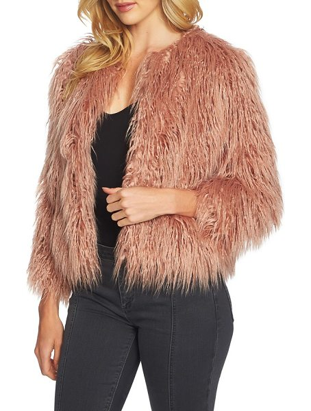 1.State crop faux fur jacket in lustre nude - A simple jacket makes the most glamorous topper in...