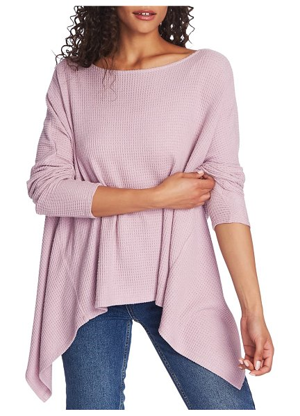 1.State knot back waffle knit top in pink