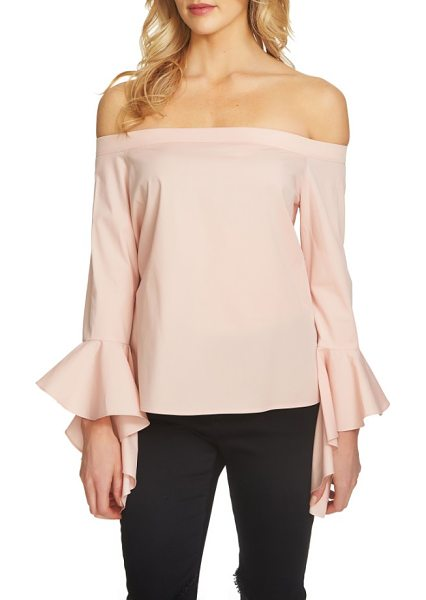 1.State off the shoulder top in shadow pink - Take on this season's statement sleeve and give your...