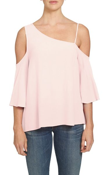 1.State one-shoulder top in pink taffeta - Designed with a draped silhouette and a single slender...