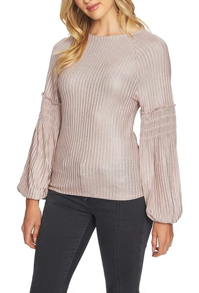 1.State smocked sleeve top in 808-shadow pink - When the temps start to drop, take your sweater game up...