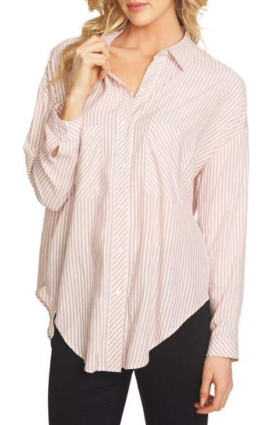 1.State split high/low hem blouse in shadow pink - A weekend essential with a high/low hem and long back...