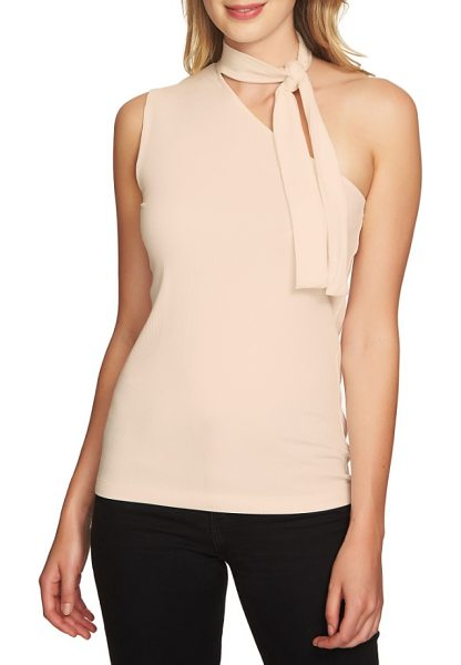 1.State tie neck one-shoulder top in shadow pink - Take the guesswork out of accessorizing with this...